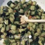 Gnocchetti con zucchine e formaggio spalmabile