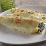 Cannelloni con zucchine e formaggio