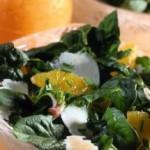 Insalata di spinacini con pecorino e arance