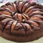 Torta pesche e cacao